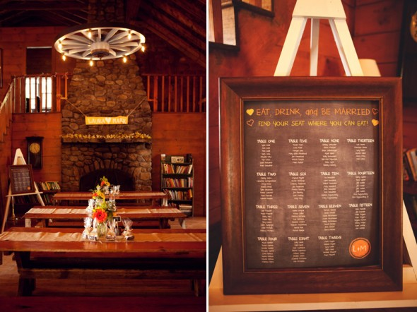 Rustic Wedding Seating Chart Idea