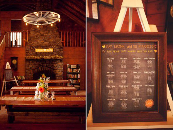 Rustic Wedding Seating Chart Idea