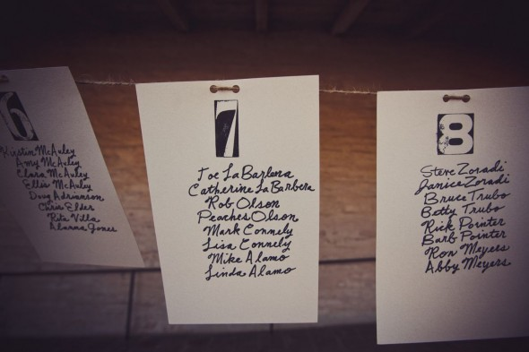 Seating Chart Idea At Rustic Wedding