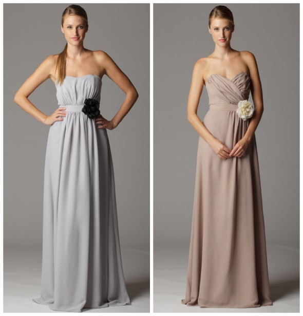 Soft Color Bridesmaid Dress