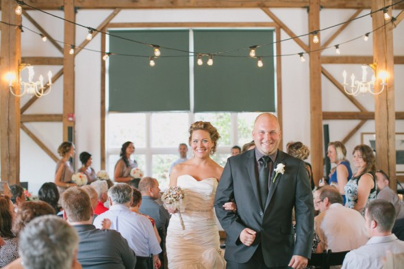 Wedding Ceremony In A Barn