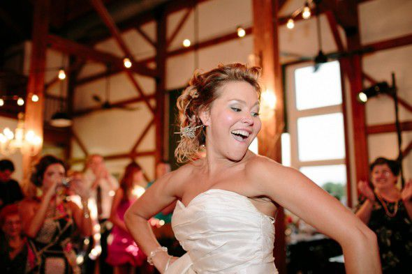 Bride At Barn Wedding