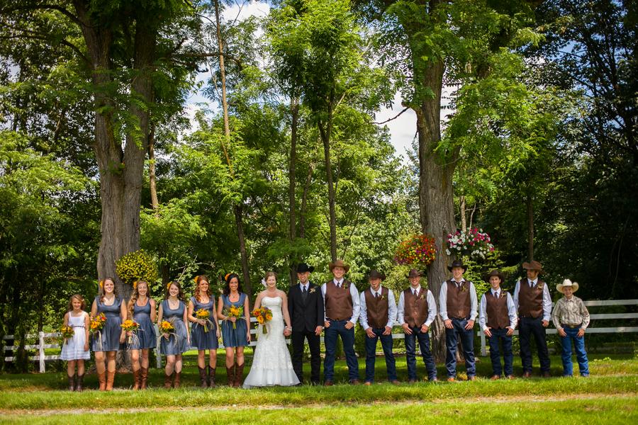 Chic Rustic Country Wedding: Washington State Country Barn Wedding