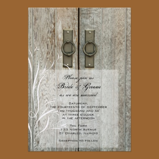 Barn Door Invitation