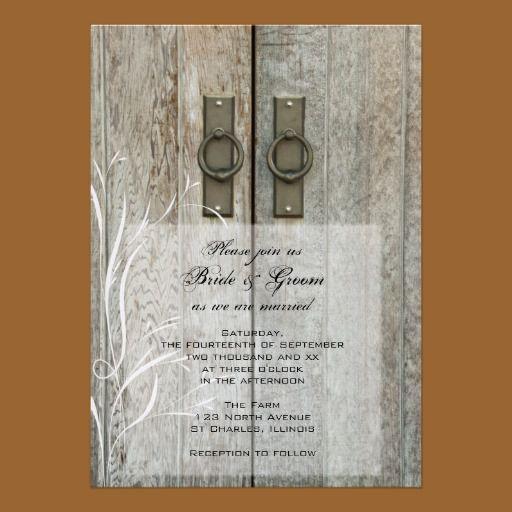 Barn Door Invitation