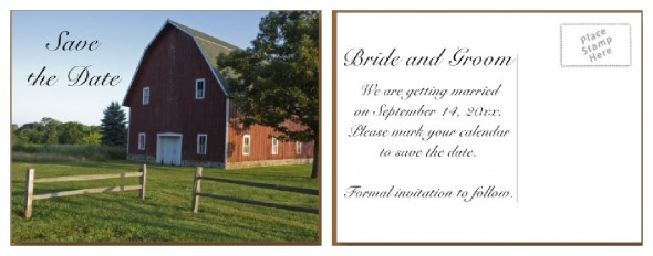 Barn Save The Date