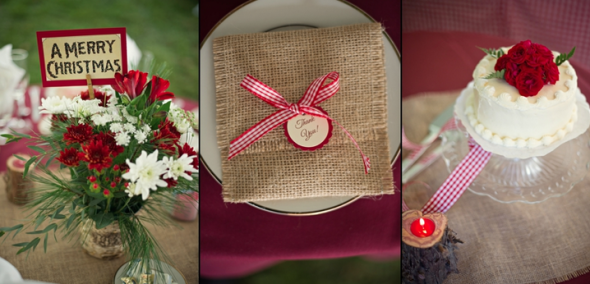 Burlap Wedding Favor Bag