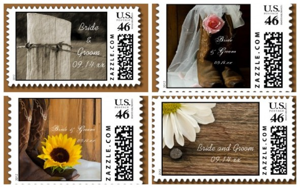 Country Wedding Stamps