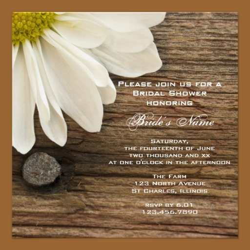 Flower Wedding Shower Invitation