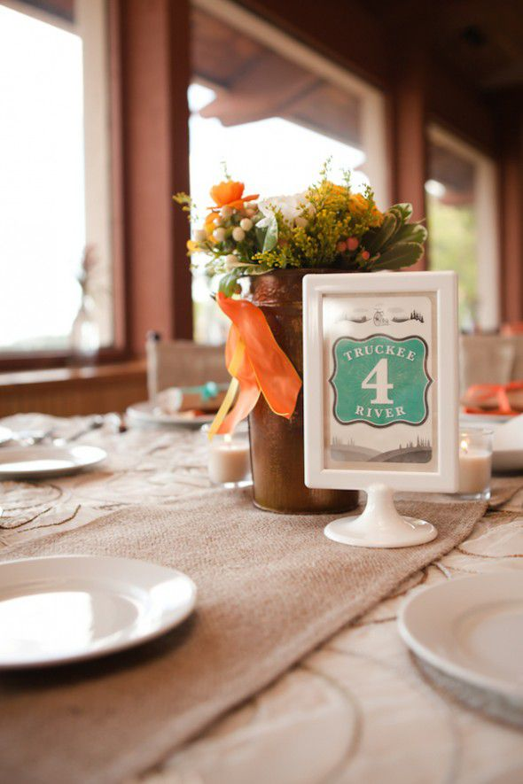 Frame Wedding Table Number