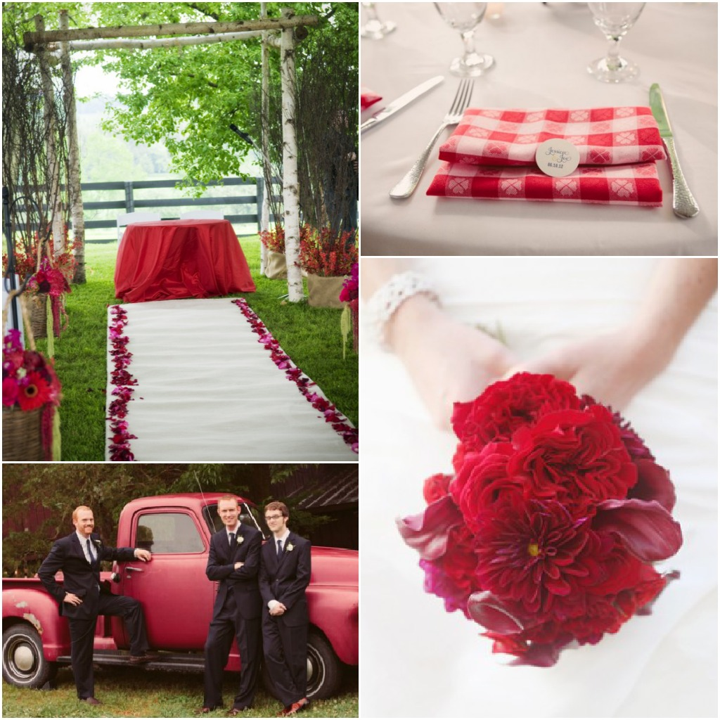 Rustic Wedding Color Ideas: Inspiration For A Red Themed Wedding