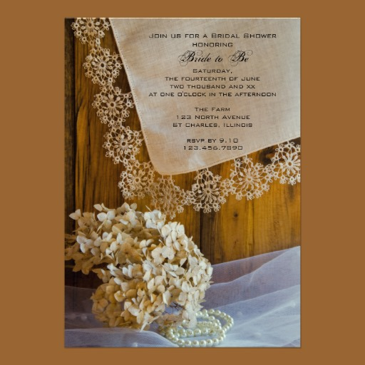 Lace Shower Invitation