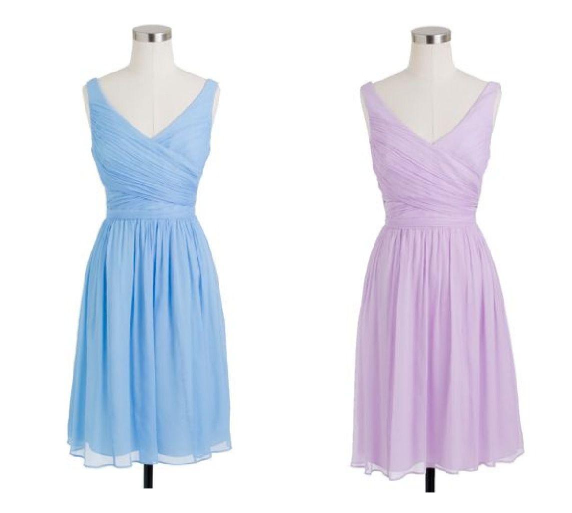Light Colored Bridesmaid Dresses