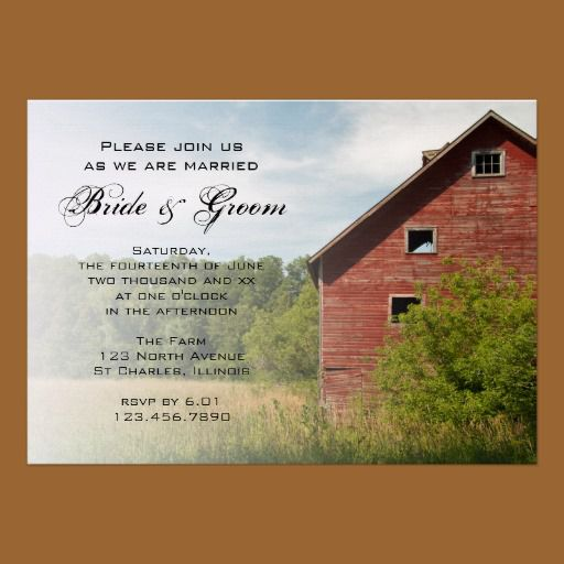 Rustic Wedding Invitations Rustic Country Wedding Invites and Ideas