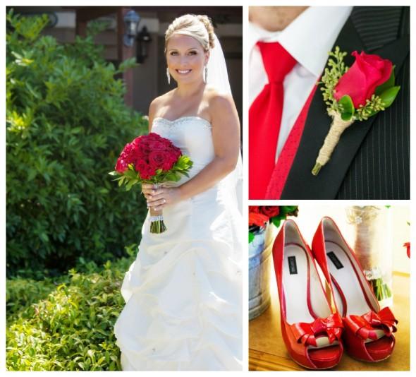 Chic White Wedding Theme: Red & White Themed Wedding