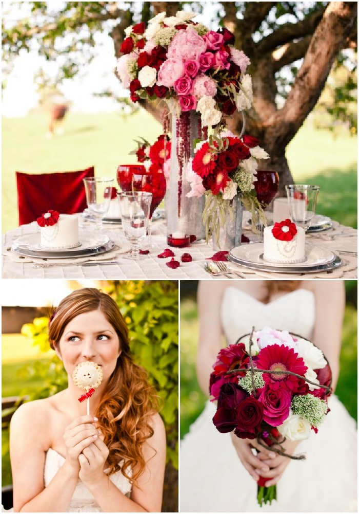 Red White Wedding Theme Pictures : Inspiration for a red themed wedding rustic chic