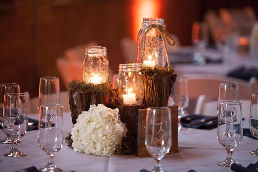 Country Wedding Centerpiece Decorations : Cotton mill wedding texas rustic chic