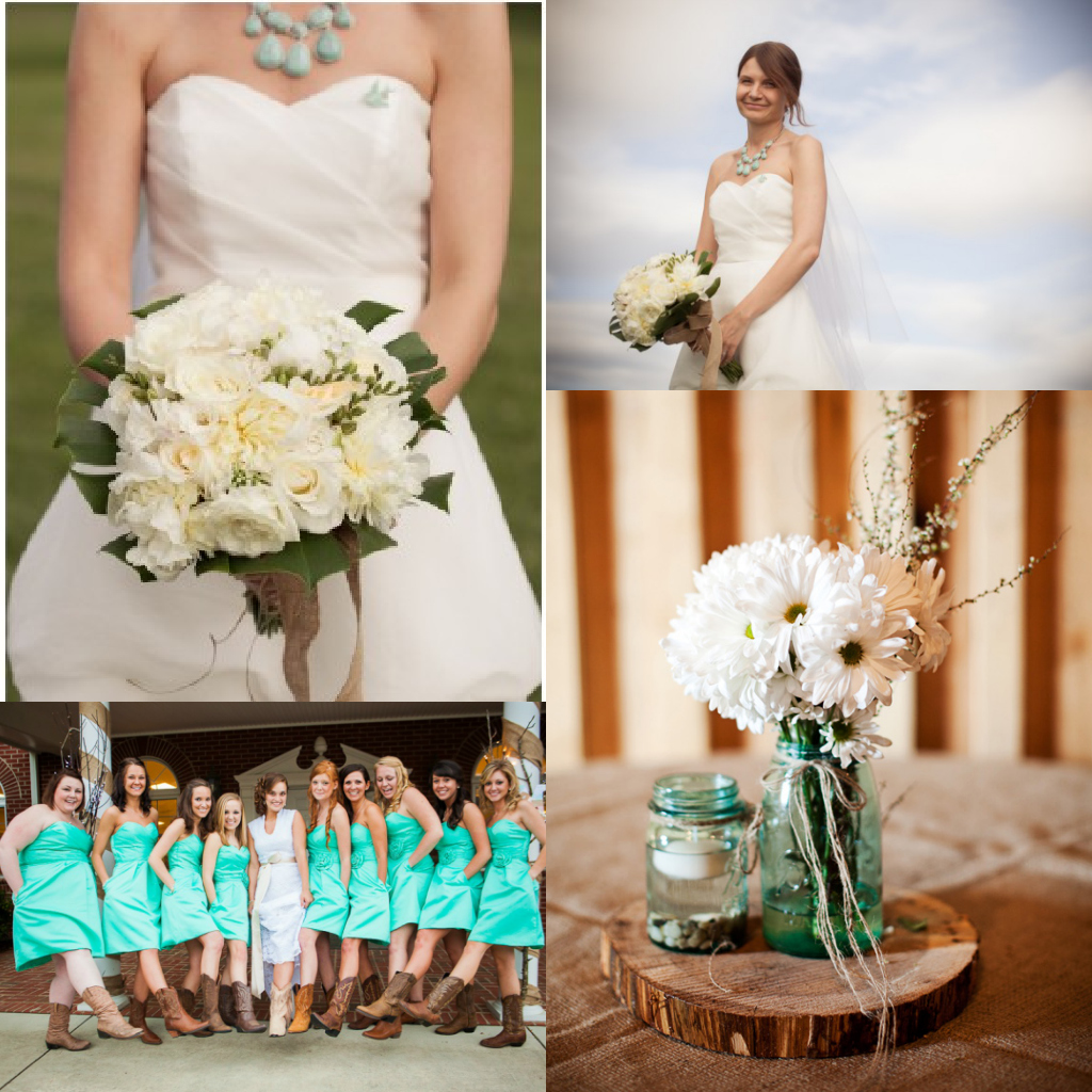 Cowboy Inspired Turquoise Wedding Cake