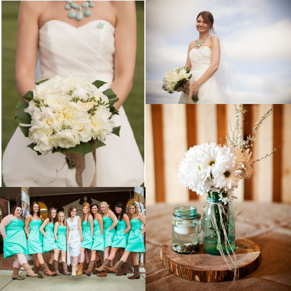 Country Wedding Centerpieces Ideas: Turquoise Wedding Ideas