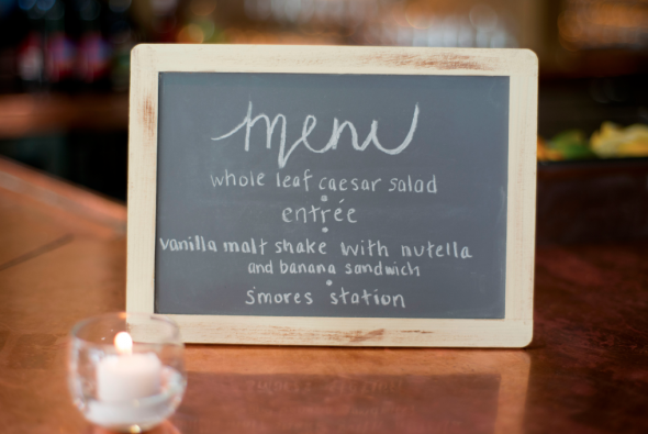 Wedding Chalkboard Menu