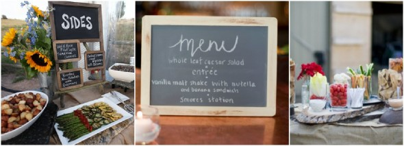 Wedding menu Ideas