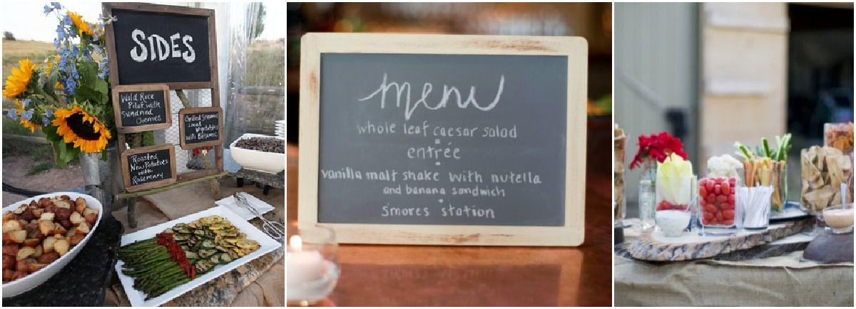 Wedding menu ideas rustic wedding chic wedding menu ideas junglespirit Images