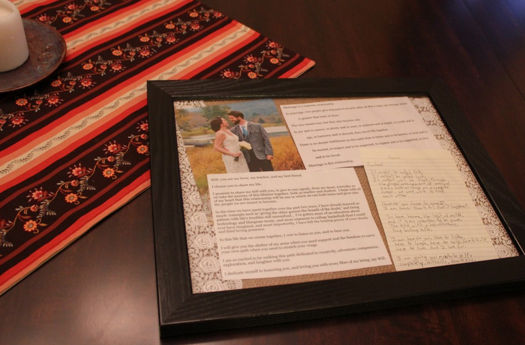 Wedding Vow Keepsake Project