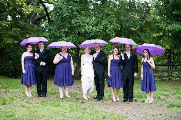 Wedding With Umbrella