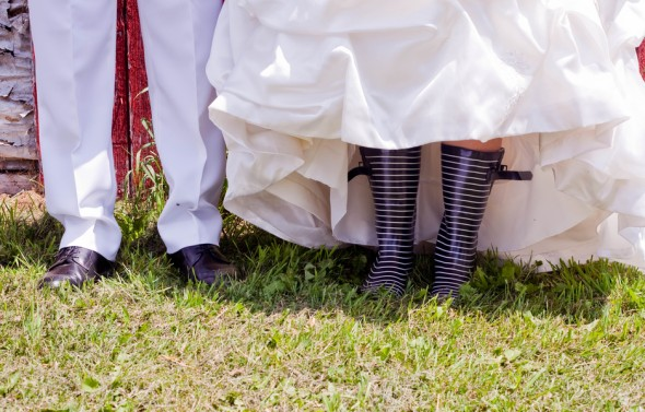 Wellies On Bride