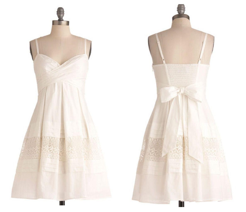 Short White Wedding Sendoff Dress