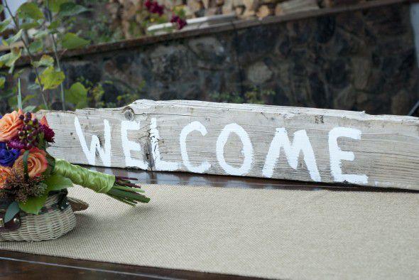 Wood Wedding Welcome Sign
