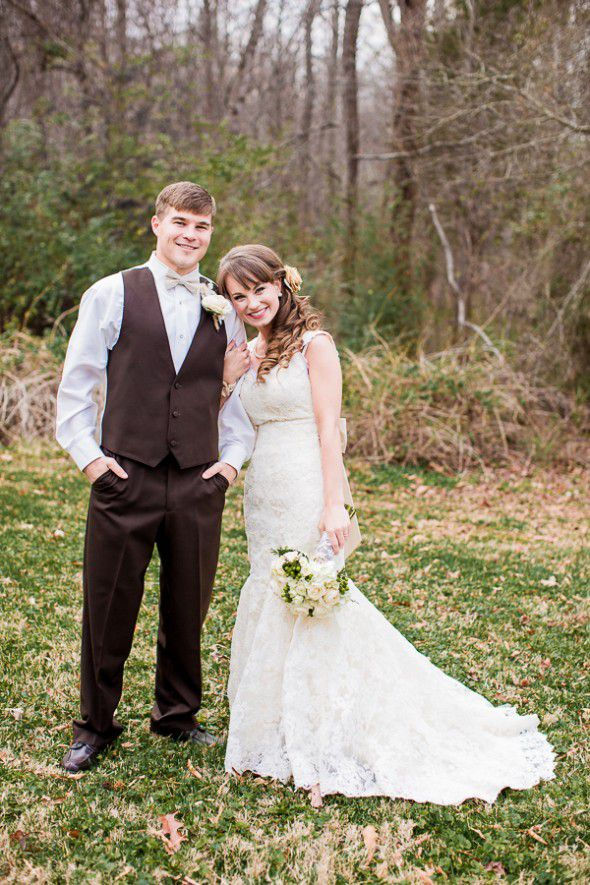 Southern Country Wedding Couple