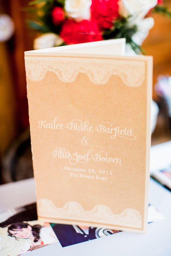 Burlap Wedding Program