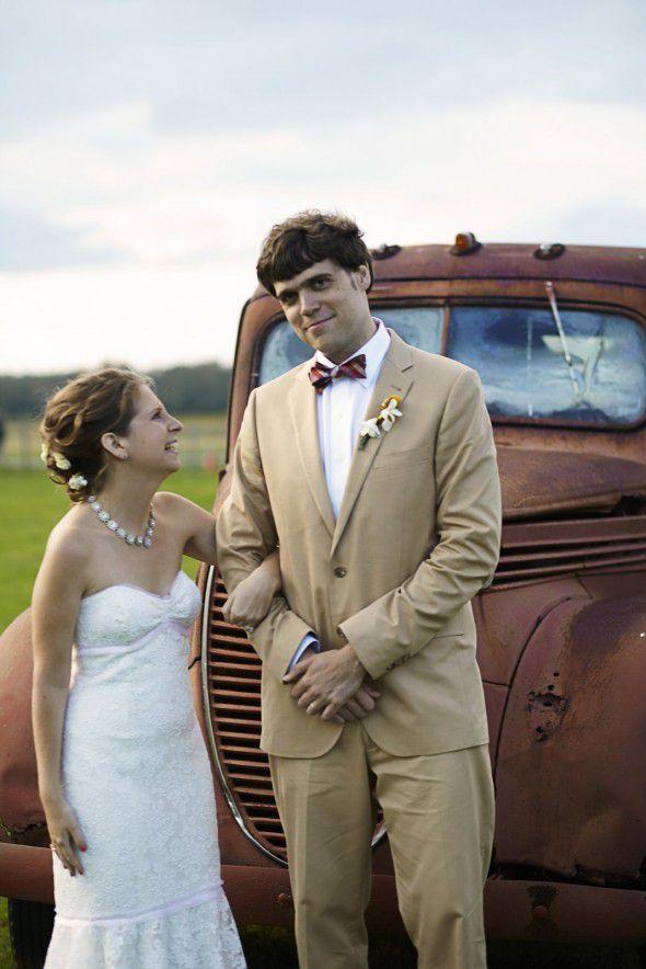 Rustic Wedding Couple New York
