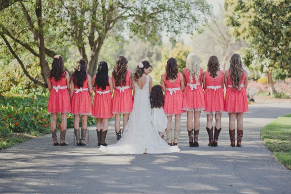 Cowboy Boots On Bridesmaids