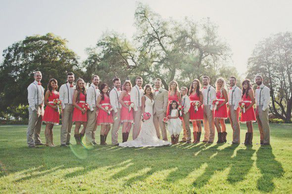 Rustic Country Bridal Party