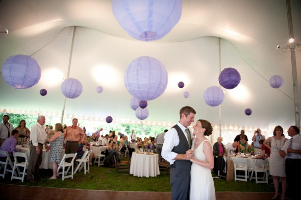Purple Wedding Tent