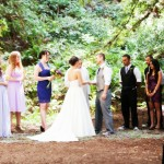 Woodsy Wedding Ceremony