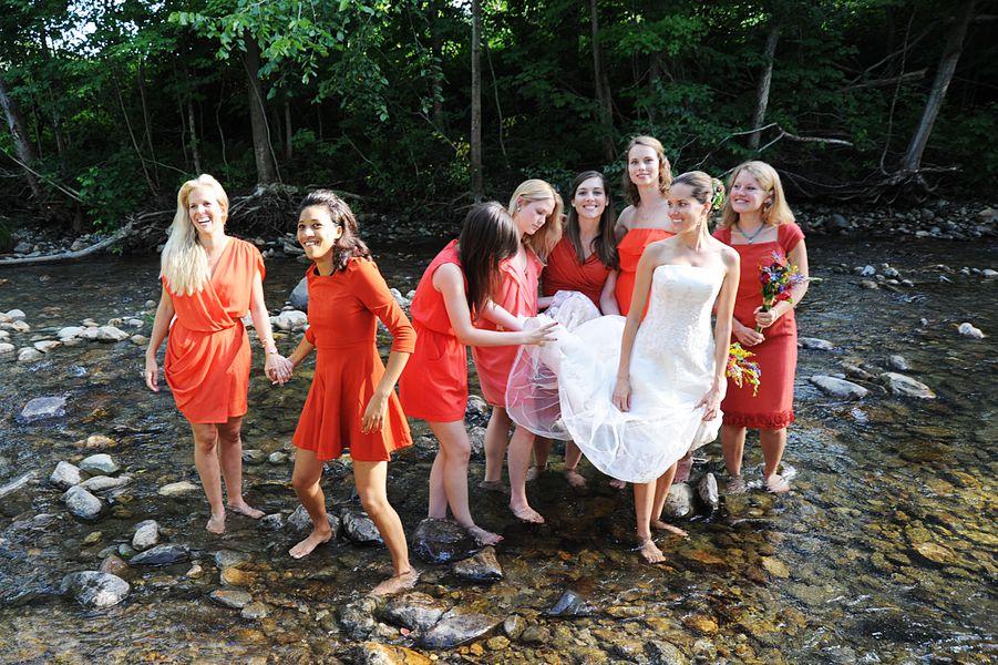Bride In River