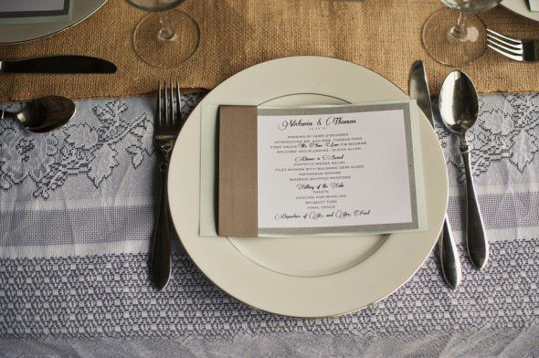 Burlap Wedding Menu