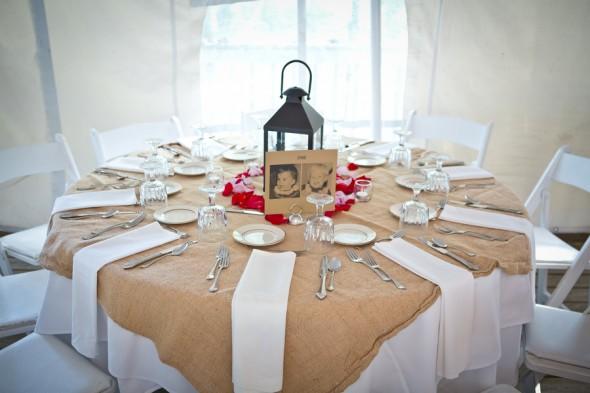 Burlap Wedding Tables