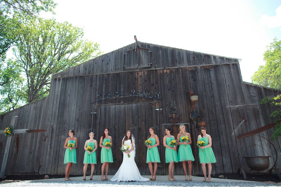 Rustic Barn Bridesmaids