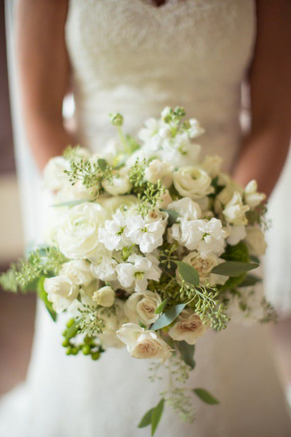 Green White Wedding Bouquet