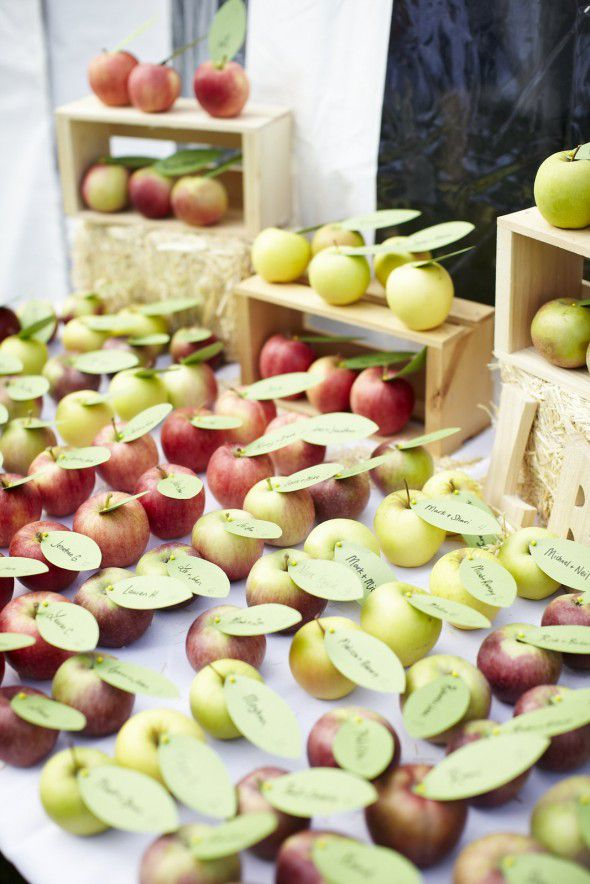 Apple Wedding Place Cards