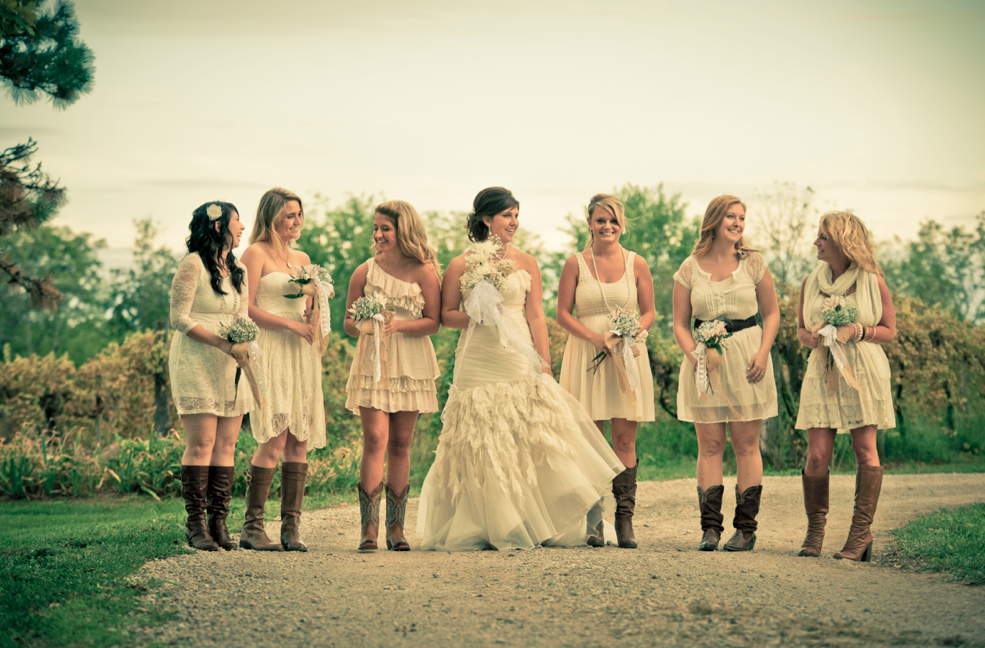 Missouri Rustic Wedding Country Bridesmaids