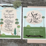 Hand Illustrated Wedding Invitation