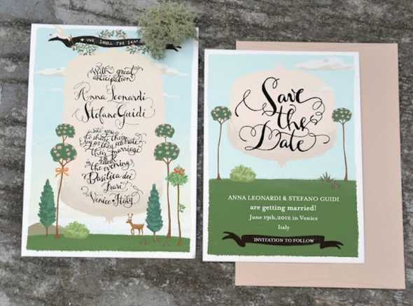 Illustrated Wedding Invitations: Illustrated Wedding Invitations
