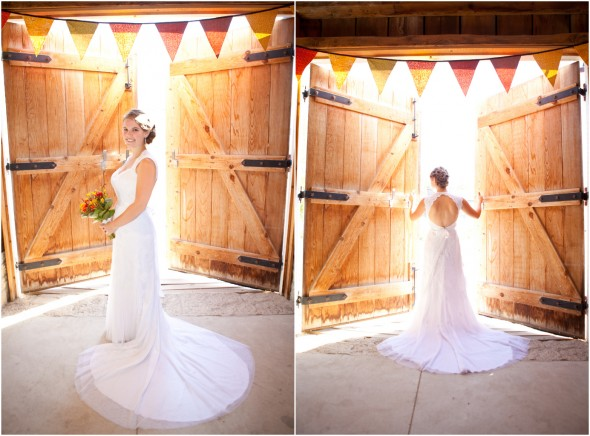Barn Wedding Bride