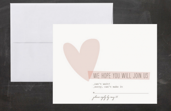 Heart Wedding RSVP