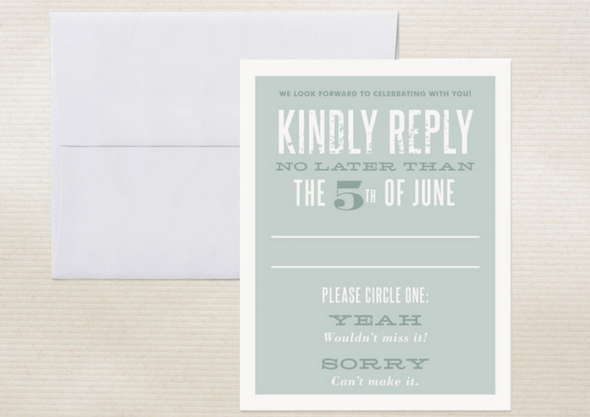 Kindly Respond Card